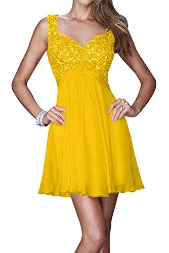 Toskana novia Sweetheart Dos de Traeger máxima de noche para ropa Corto Gasa Transparente con lentejuelas puntas Party Abi Ball dorado