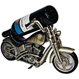 Motorcycle Wine Bottle Holder 14″ x 8″ – Sculpted in Handpainted Resin Review