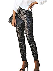 Black Sequin Bling Legging Joggers