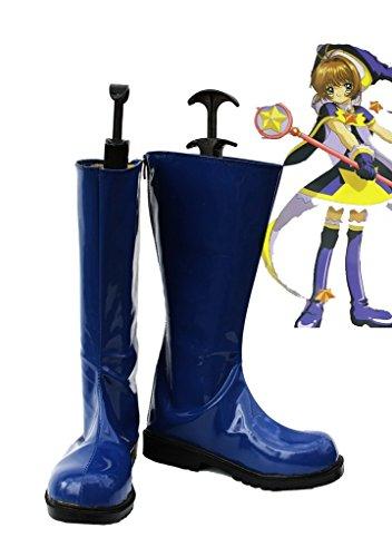 Sakura Kinomoto Cosplay Schoenen Laarzen Op Maat Gemaakt Blauw