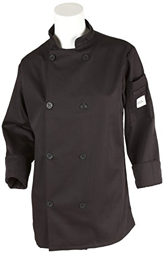 Mercer Culinary M60020BK1X Millennia Women's Cook Jacket with Traditional Button, X-Large, Black by Mercer Culinary