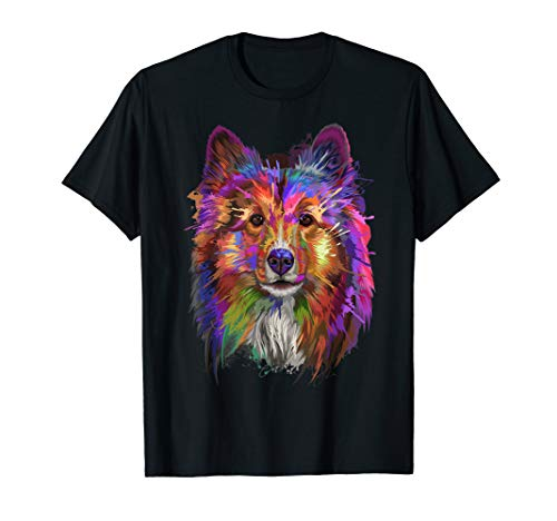 Splash Art Shetland Sheepdog T-Shirt | Cute Sheltie Gifts