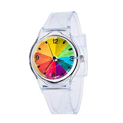Etuoji New Fashion Silica Gel Band Round Analog Quartz Wrist Watch Bracelet Bangle (Quartz Watch Bangle Bracelet)
