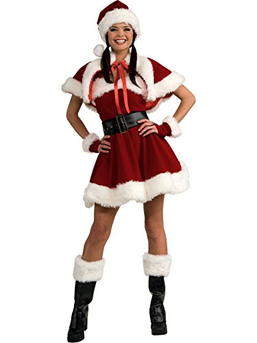 Secret Wishes Velvet Flirty Miss Santa Costume, Red, Medium