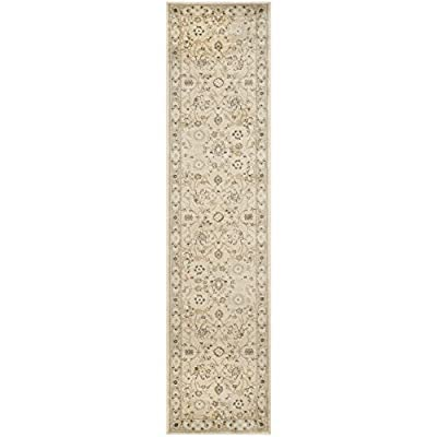 Safavieh Florenteen Collection FLR125-1280 Traditional Oriental Ivory and Grey Runner (2' x 10') - The high-quality polypropylene pile fiber adds durability and longevity to these rugs. The powerloomed construction add durability to this rug, ensuring it will be a favorite for a long time. The traditional style of this rug will give your room a elegant accent - runner-rugs, entryway-furniture-decor, entryway-laundry-room - 41TgJBOVLvL. SS400  -