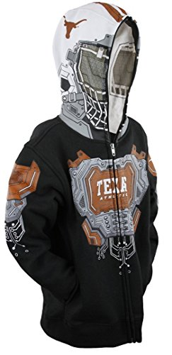 NCAA Texas Longhorns Big Boys Full Zip Masked Hoodie, Black