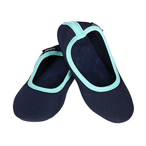 Satin Matte Drew Women's Blue Ballerina Slipper ISOTONER Navy 5qAEwan