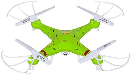 UX5C RC Quadcopter Drone with Camera (720p HD) Headless Mode 2.4GHz 4 CH 6 Axis Gyro RTF Includes BONUS BATTERY (*Doubles Flying Time*)