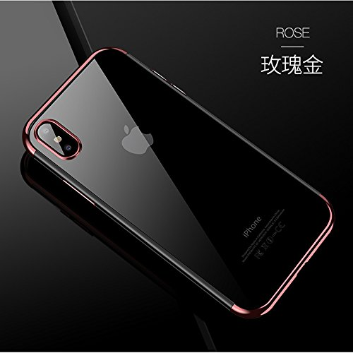 iPhone X Case, SNEER[Support Wireless Charging] Ultra-thin Crystal Clear Soft Flexible TPU Bumper Slim Electroplating Transparent Protective Cover & Skin For Apple iPhone 10 / X 5.8 - Skin Crystal Cover