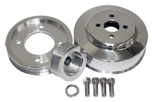 5.0L Compatible/Replacement for FORD MUSTANG COBRA GT 94-95 BILLET SERPENTINE PULLEY SET - POLISHED