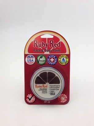 Ruby Red Paint Face Paint, 18 ML - Uv White]()