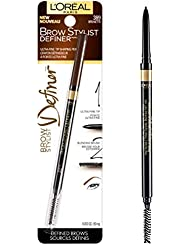 L'Oréal Paris Makeup Brow Stylist Definer Waterproof Eyebrow Pencil, Ultra-Fine Mechanical Pencil, Draws Tiny Brow Hairs & Fills in Sparse Areas & Gaps, Brunette, 0.003 oz.