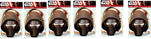 Star Wars Party Masks, 8ct 6 (Captain 6 Pack Halloween Costume)