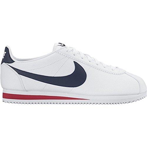 Nike Classic Cortez Leather White/Blu - Sneakers Uomo - 44.5 EU