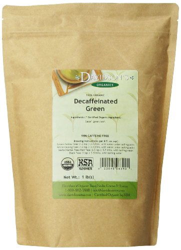 Davidson's Tea Bulk, Decaf Green, 16-Ounce Bag