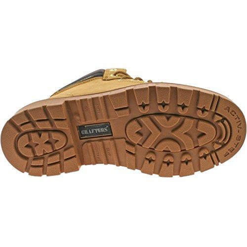 Grafters , Chaussures de sécurité pour homme - Beige - Miel, 49