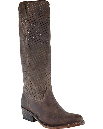 Corral Womens Cut-out Upper Boot Round Teen - A3385 Honey