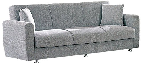 Superior BEYAN Niagara Collection Modern Fold Out Convertible Sofa Bed Sleeper With  Storage Space, Includes 2