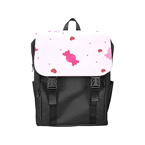 Fashion Flip Cover Notebook Candy Sweet Color Girl Hand Drawn Print Laptop Backpack Travel Men Women Business Computer Backpack Oxford Fabric Vintage School Shoulder ()