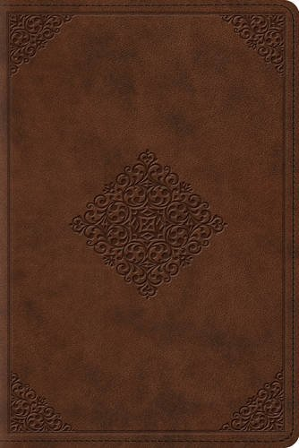 ESV Study Bible: English Standard Version, Saddle, TruTone, Ornament Design, Personal Size (Best Bible For Bible Study)