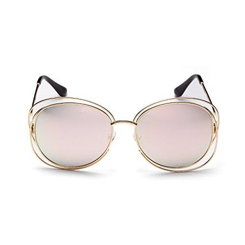 de Redondo Unisex inspirado Sol Polarizado Vintage Sunglasses al Portección Clásico Aire polarizadas Libre Gafas UV400 metálico dF4xwd