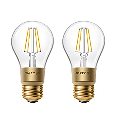 meross Smart Dimmable Bulb, Edison A19 Type, 60W Equivalent, Works with Alexa, Google Home and IFTTT, FCC & ETL Certified, No Hub Required 2 Pack