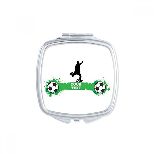 DIYthinker Penalty Soccer Football Sports Text Square Compact Makeup Pocket Mirror Portable Cute Small Hand Mirrors Gift by DIYthinker