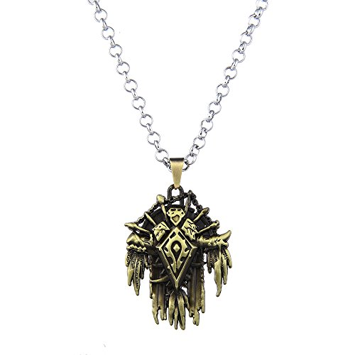 Lureme Vintage Jewelry World of Warcraft Horde Signs Pendant Necklace for WOW Fans (nl005615)