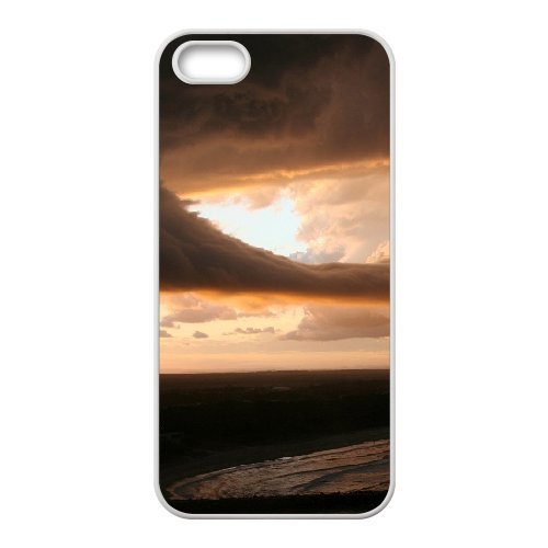 SYYCH Phone case Of Crimson Clouds 2 Cover Case For iPhone 5,5S