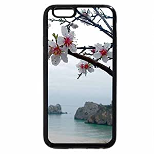 iPhone 6S / iPhone 6 Case (Black) flower on the beach