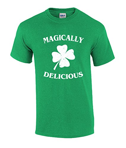Funny St Patricks Day Magically Delicious Graphic Holiday T-Shirt-6Xl Irish Green -