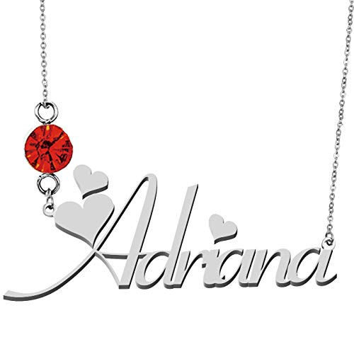 HUAN XUN Custom Name Pendant Choker Necklace ()