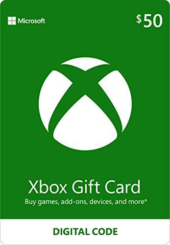 $50 Xbox Gift Card [Digital Code]