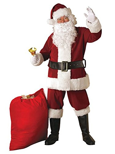 (Crimson Regency Plush Santa Suit Costume for)