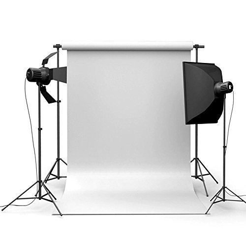 MyZenStore 90x150cm 3x5ft Pure White Vinyl Studio Photography Backdrop Props Background (Country Living Halloween Ideas)