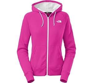 The North Face Women's Lightweight Full Zip Hoodie,Luminous Pink/TNF White,US XS
