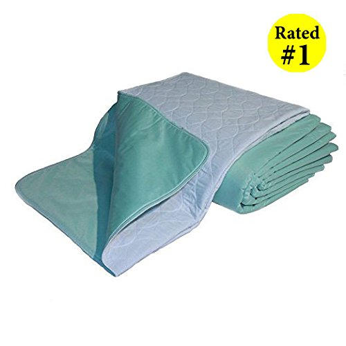 Washable Puppy Pads - *BEST PRICE* PREMIUM Washable ReUsable Under-Pads - The Best Softest Pad You'll Ever Use - 34x36 inches. Ideal for Children Adult Incontinence - Puppy Pad Friendly