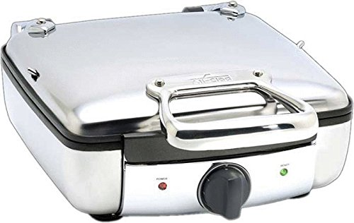 All-Clad 2100046968 99010GT Stainless Steel Belgian Waffle Maker with 7 Browning Settings, 4-Square, Silver (Best Commercial Waffle Maker)