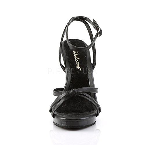 PleaserUSA Heel Black 436 Sandals Flair High Leather Womens BqpvPrwB