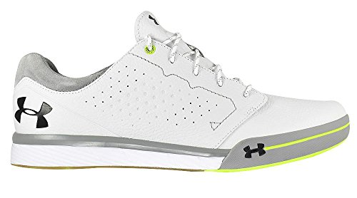 Under Armour Tempo Hybrid Spikeless Golf Shoes 2017 White/High Yellow Medium (Sport Tempo Golf Shoe)