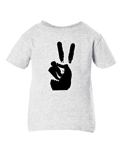 Ash T-shirt Infant - Mari Kyrios Peace Sign Symbol Hippie 60's Baby Toddler Ash T-Shirt Dead Head