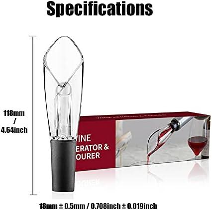 Aireador Decantador de Vino Antigoteo, Tapon Oxigenador del Vino, Vertedor de Vino, Pourer Vino, Aireador Decantadores Oxidante de Vino Tinto, Boquilla Vino para Fiesta Celebrar Casa