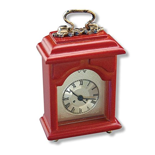 (Dollhouse Miniature Working Mantle Clock by Reutter)