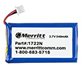 Merritt Compatible Plantronics Battery Replacement For C052, CS50, CS55, CS351n and CS361n Wireless Headsets