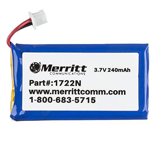 Merritt Compatible Plantronics Battery Replacement For C052, CS50, CS55, CS351n and CS361n Wireless Headsets