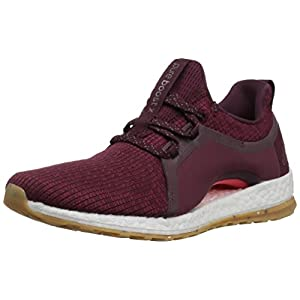 adidas Performance Women's Pureboost X ATR Running Shoe, Red Night/Mystery Ruby/Easy Coral, 7 M US
