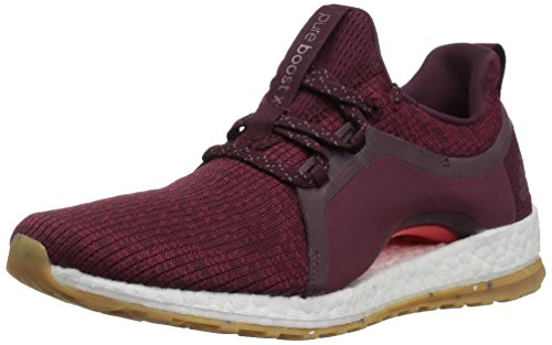 adidas Women's Pureboost X ATR Running Shoe, Red Night/Mystery Ruby/Easy Coral, 7.5 M US