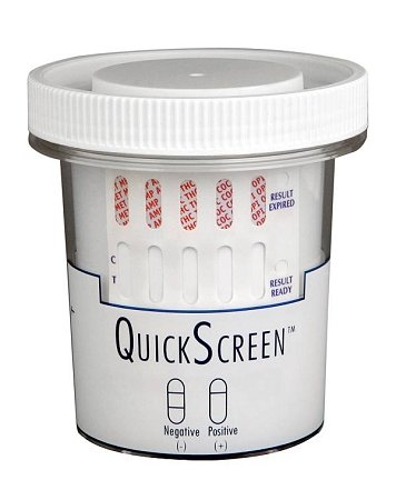 QuickScreen 10 Panel Urine Drug Test Cup 9380Z - AMP, BAR, B