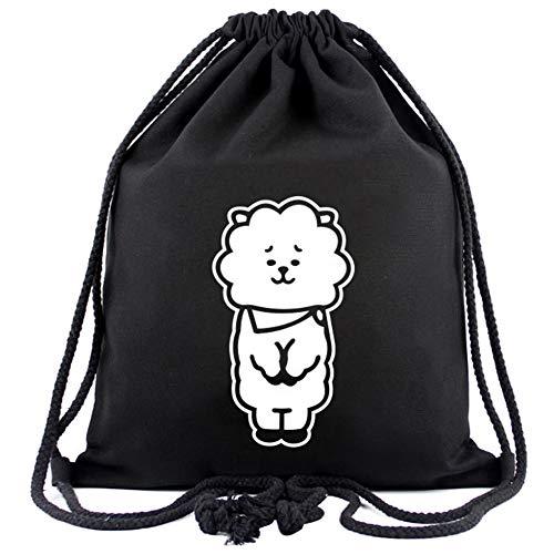 Kpop Bag Backpack Drawstring Storage Students Bts Men Bt21 And Rj For Swim amp; Women Gym Canvas rC6rwtq