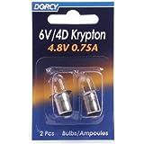 Dorcy 6-Volt/4D-4.8-Volt, 0.75A Bayonet Base Krypton Replacement Bulb, 2-Pack (41-1663)